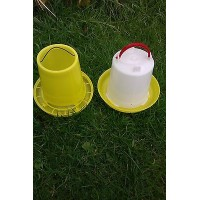 2 ltr Drinker & 2 kg Feeder for Poultry, Chickens, Chicks, Pigeon or Quail