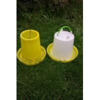 4 ltr Drinker & 4 kg Feeder for Poultry, Chickens, Chicks, Ducks, Hens or Quail