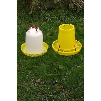 6 ltr Drinker & 6 kg Feeder for Poultry, Chickens, Chicks, Ducks, Hens, Geese